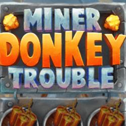miner donkey trouble slot logo