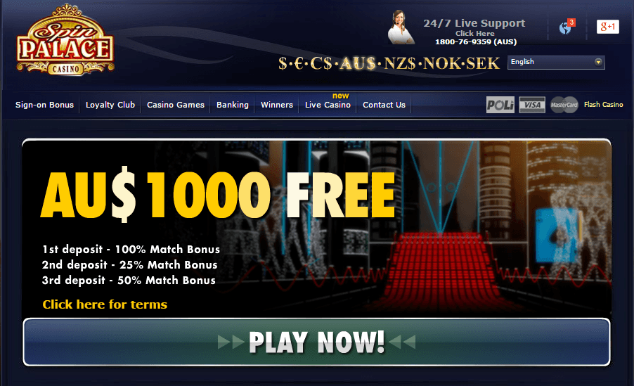 Spin palace online casino australia peter holy crap